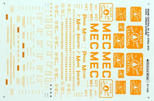 Micro Scale HO 40'/50' Box MEC grn 54-70, LIST PRICE $8.25
