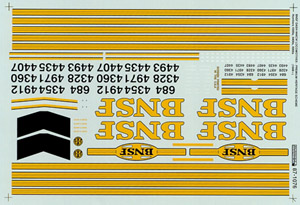 Micro Scale HO 9-44CW Dsl Lg Ns Ltr BNSF, LIST PRICE $8