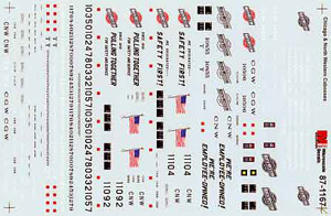 Micro Scale HO Caboose Decal CNW, LIST PRICE $8