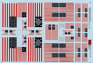 Micro Scale HO USA Battle/Unt Flags 1861, LIST PRICE $8.25