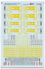 Micro Scale HO Railroad Decal Set -- CSX 2010 Boxcar Logo ES44AC & EMD 2, LIST PRICE $8