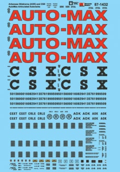Micro Scale HO AutoMax Articulated Autoracks, AOK/CSX, LIST PRICE $8
