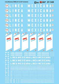 Micro Scale HO Container Decal Set Linea Mexicana TMMU 40' & 2, LIST PRICE $8.25