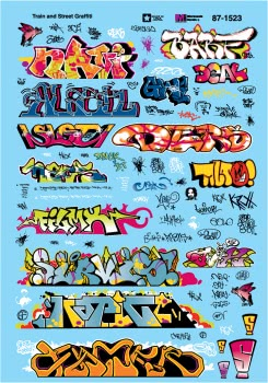 Micro Scale HO Modern Graffiti, LIST PRICE $8.25