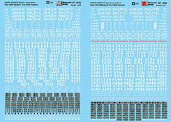 Micro Scale HO RR Decal Set UP Steam Loco 1939-Present , DUE TBA, LIST PRICE $8.25