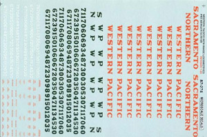 Micro Scale HO WESTERN PACIFIC NEW IMAGE LOCOS, LIST PRICE $8