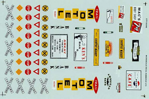 Micro Scale HO Street & building signs, LIST PRICE $8