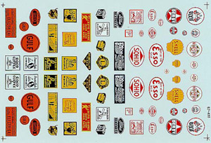 Micro Scale HO 30/40s Commercial signs#1, LIST PRICE $8.25