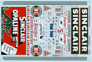 Micro Scale HO Gas Station Sgns Sinclair, LIST PRICE $8.25