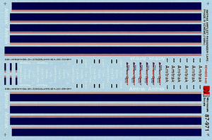 Micro Scale HO Amtrak Amfleet pass 1996+, LIST PRICE $8.25