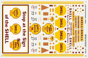 Micro Scale HO Gas signs Shell '35-60, LIST PRICE $8.25