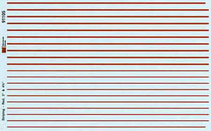 "Micro Scale HO Stripes 3&4.75"" red, LIST PRICE $7.25"
