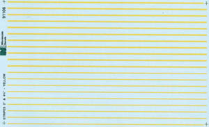 "Micro Scale HO Stripes 3&4.75"" yellow, LIST PRICE $7.25"