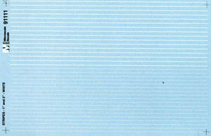 """Micro Scale HO Striping White 1"""" & 2"""", LIST PRICE $7.25"""