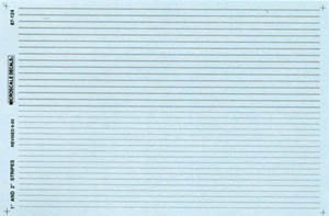 """Micro Scale HO Striping Silver 1"""" & 2"""", LIST PRICE $7.25"""