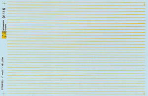 """Micro Scale HO Striping Yellow 1"""" & 2"""", LIST PRICE $7.25"""