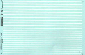 "Micro Scale HO 4&6"" wide stripes white, LIST PRICE $7.25"