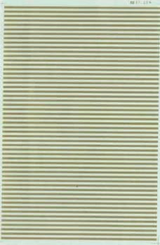 "Micro Scale HO Barricade Stripe 6"" gold, LIST PRICE $7.25"