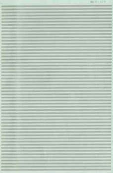 "Micro Scale HO Barricade Stripe 6"" slvr, LIST PRICE $7.25"