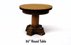 "BTS 36"" Round Table 4/, LIST PRICE $6.95"