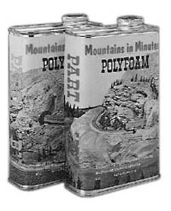 Mountains in Minutes Polyfoam parts A&B pints, LIST PRICE $34.96