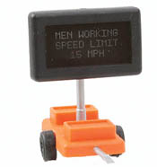 Miniatronics HO Road Sign, Men Working, LIST PRICE $33.95