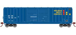 Roundhouse HO 50ft 5283 FMC DD Box Golden West #765011, DUE 5/30/2020, LIST PRICE $28.98