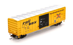 Roundhouse HO 50ft OB Box Railbox11062, DUE 9/30/2019, LIST PRICE $28.98