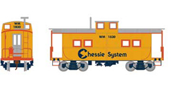 Roundhouse HO Eastern Caboose Chessie WM 1830, DUE 11/30/2018, LIST PRICE $28.98