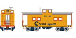 Roundhouse HO Eastern Caboose Chessie WM 1869, LIST PRICE $28.98