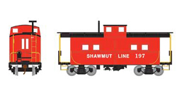 Roundhouse HO Eastern Caboose Pittsburg & Shawmut 197, LIST PRICE $28.98