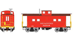 Roundhouse HO Eastern Caboose Reading red 92918, LIST PRICE $28.98