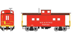 Roundhouse HO Eastern Caboose Reading red 92922, LIST PRICE $28.98