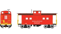 Roundhouse HO Eastern Caboose Reading red 92927, LIST PRICE $28.98