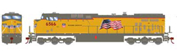 Roundhouse HO GE AC4400CW UP Flag Repaint 6566, DUE 1/30/2020, LIST PRICE $139.98