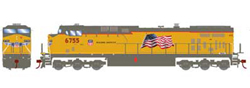 Roundhouse HO GE AC4400CW UP Flag Repaint 6755, DUE 1/30/2020, LIST PRICE $139.98