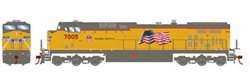 Roundhouse HO GE AC4400CW UP Flag Repaint 7005, LIST PRICE $139.98