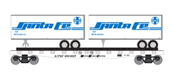 Roundhouse HO 50' TOFC Flat w/2 25' Trailers SF #1, LIST PRICE $37.98