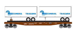 Roundhouse HO 50' TOFC Flat w/2 25' Trailers CR #3, LIST PRICE $37.98
