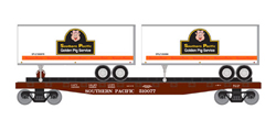 Roundhouse HO 50' TOFC Flat w/2 25' Trailers SP #3, LIST PRICE $37.98
