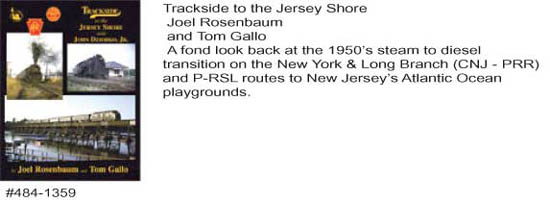Morning Sun Books Trackside to the Jersey Shore, LIST PRICE $59.95