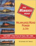 Morning Sun Books Milwaukee Road Power In Color Vol 1 Final 25yr 1961-86, LIST PRICE $59.95