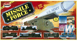 Model Power MISSLE FORCE TRAIN SET, LIST PRICE $279.98