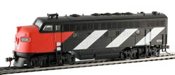 Model Power F-7A Metal Loco  CN, LIST PRICE $75