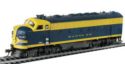 Model Power F-7A Metal Loco ATSF, LIST PRICE $74.98