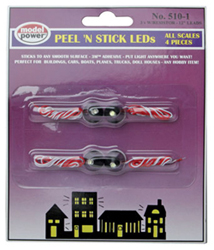Model Power Peel 'N Stick LED with Resistor (4 pcs) 3V (20mA), LIST PRICE $8.98