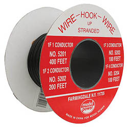 Model Power 400' 1 CONDUCTOR WIRE  *DISC*, LIST PRICE $27.98