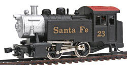 Model Power 0-4-0 Tank loco Santa Fe, LIST PRICE $38.98