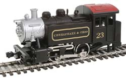 Model Power HO 0-4-0 Tank Switcher w/DCC & Sound, C&O, LIST PRICE $109.98