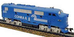 Model Power DD Lghtd F2-A Conrail, LIST PRICE $44.98